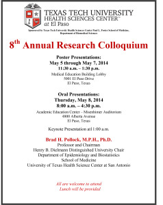 Research Colloquium Flyer