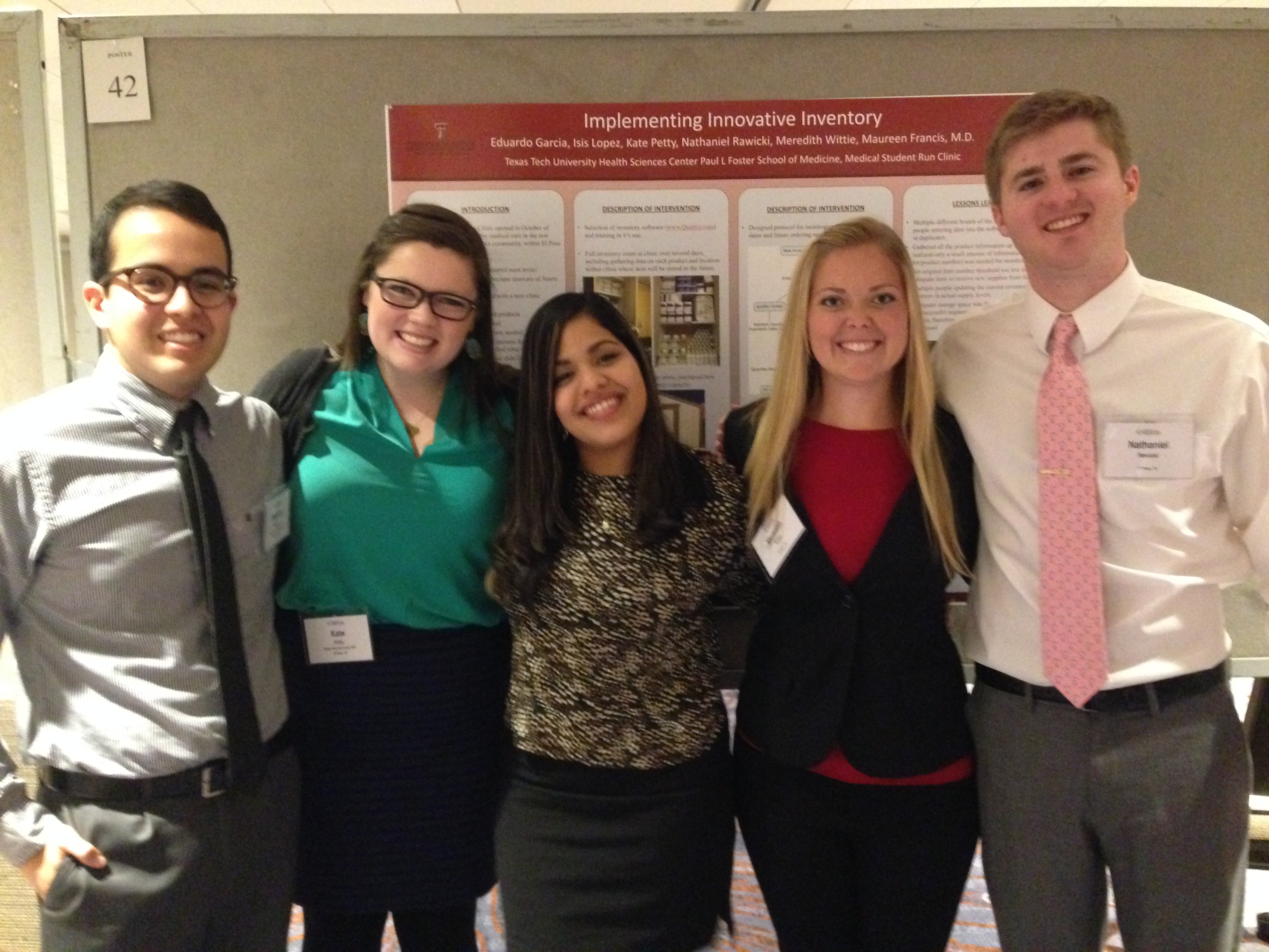 Medical Student Run Clinic Leadership Presents Poster at SSRFC