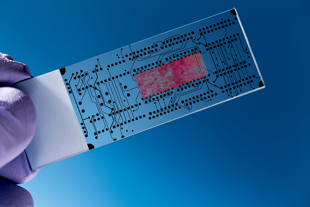 Lab on chip (LOC) is  device that integrates  laboratory functions on  nano chip