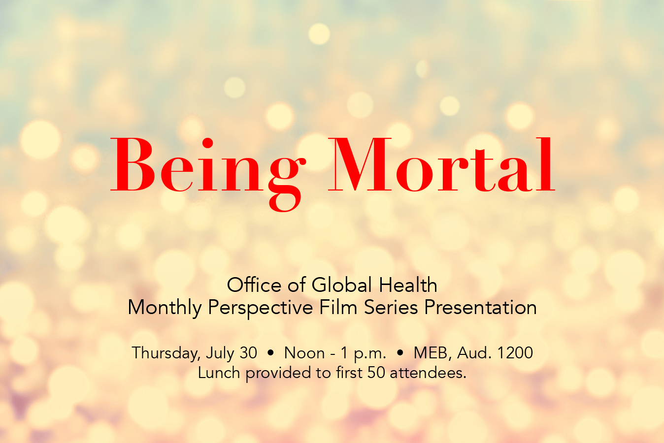 Office of Global Health Perspectives Film Series