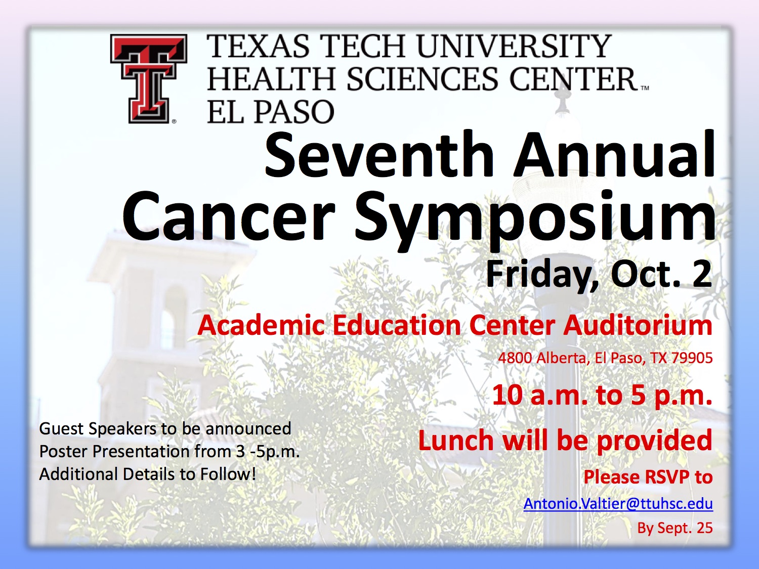 Cancer Symposium Flyer