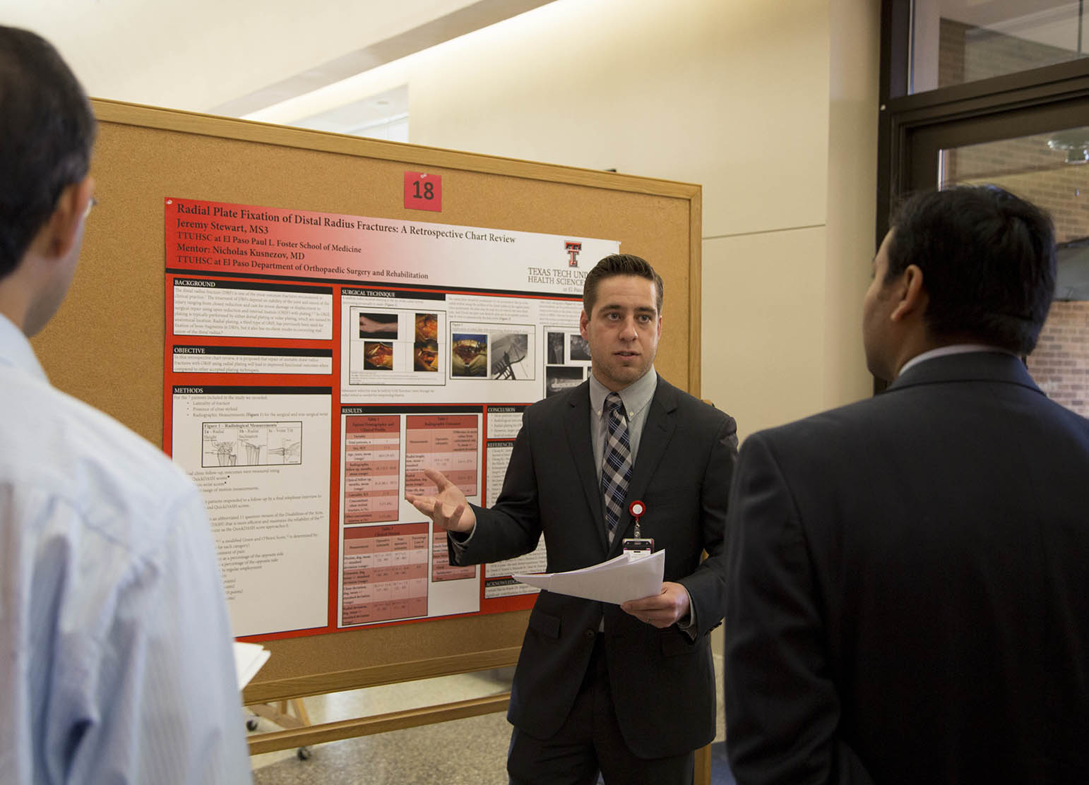 Medical students present during the annual SARP Symposium.