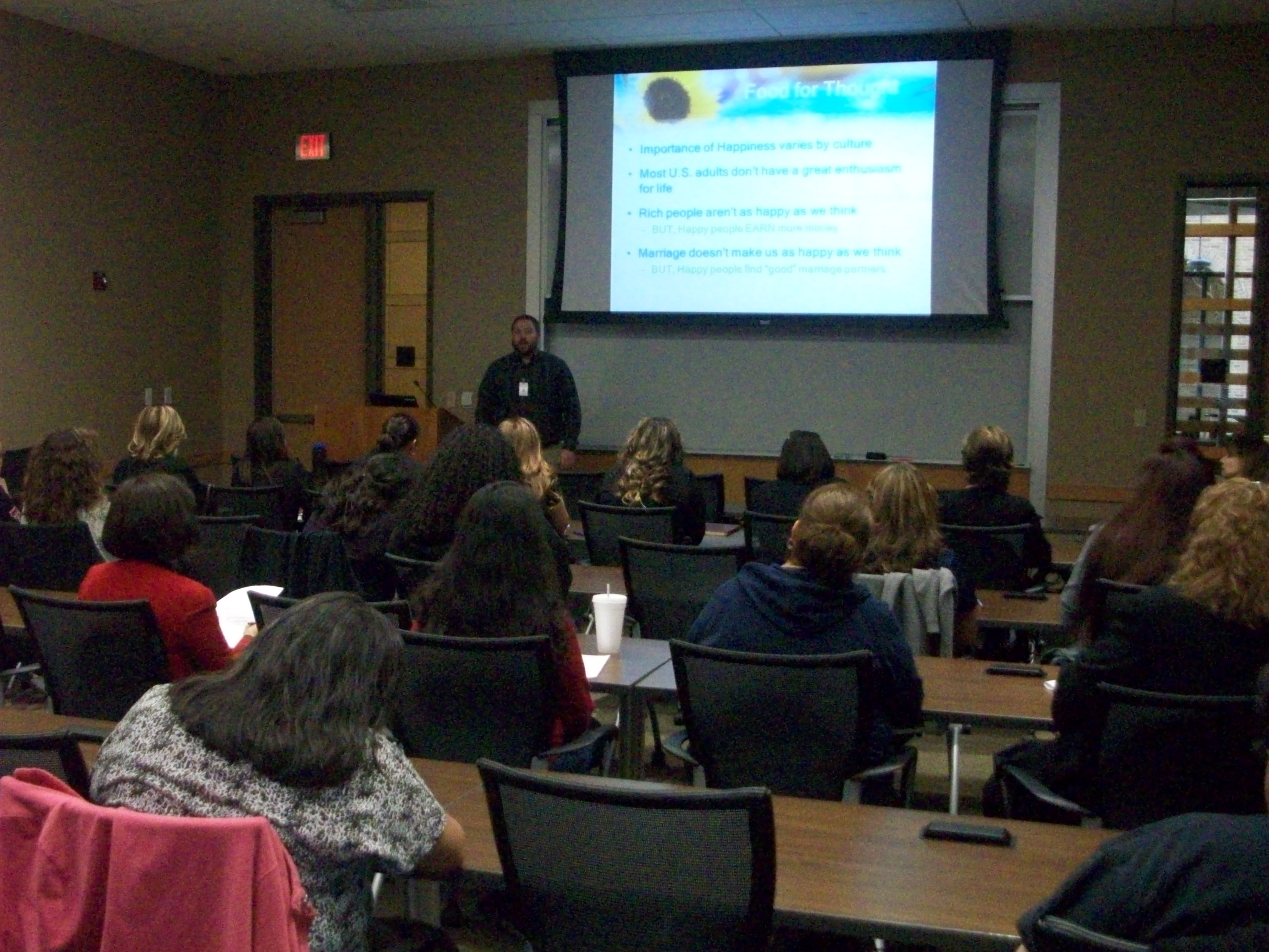 Texas Tech University Health Sciences Center El Paso presentation about happiness.