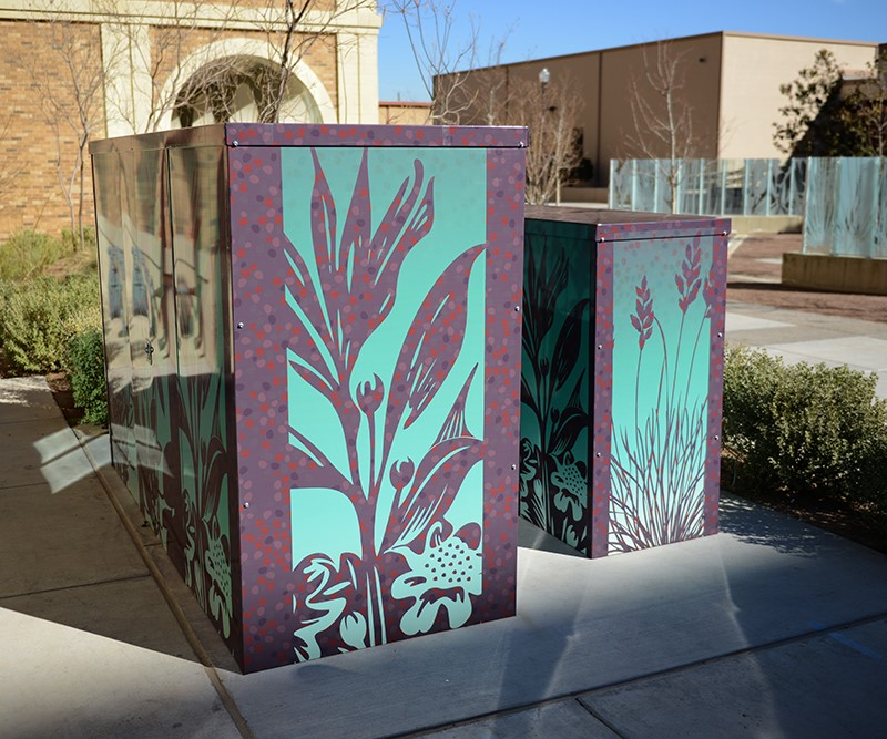 New Artwork Wraps Utility Boxes Around Campus