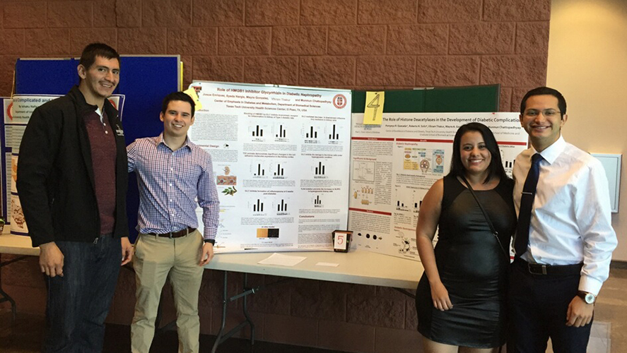 TTUHSC El Paso Students, Research Tech Receive Awards for Diabetes Research