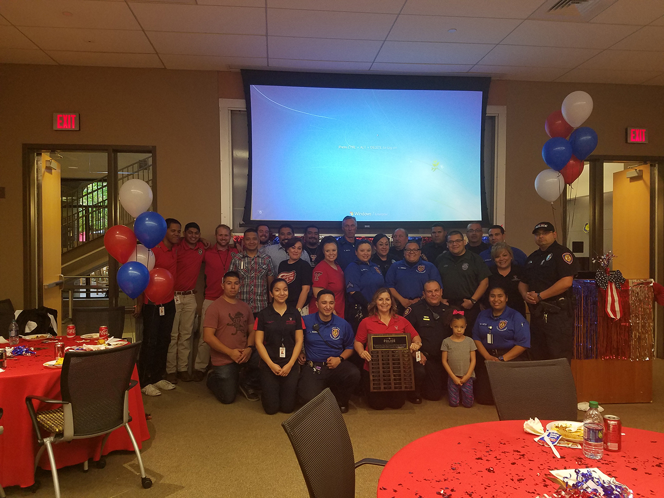 Students Organize Appreciation Event for Texas Tech PD