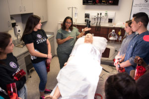 Thanks to a new partnership between TTUHSC El Paso and El Paso Independent School District, students at Franklin High School can now begin working toward their Bachelor of Science in Nursing (B.S.N.) and potentially earn their degree by the age of __.