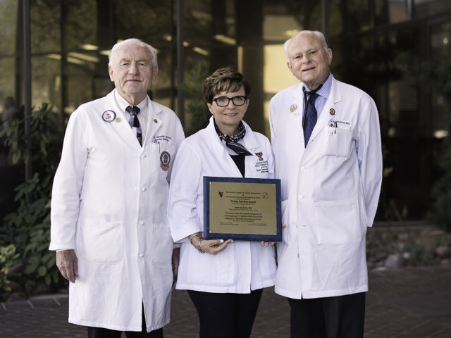 Three Texas Tech University Health Sciences Center El Paso faculty members were honored recently with the 2018 Tinsley Harrison Award for the best original manuscript published in The American Journal of the Medical Sciences.