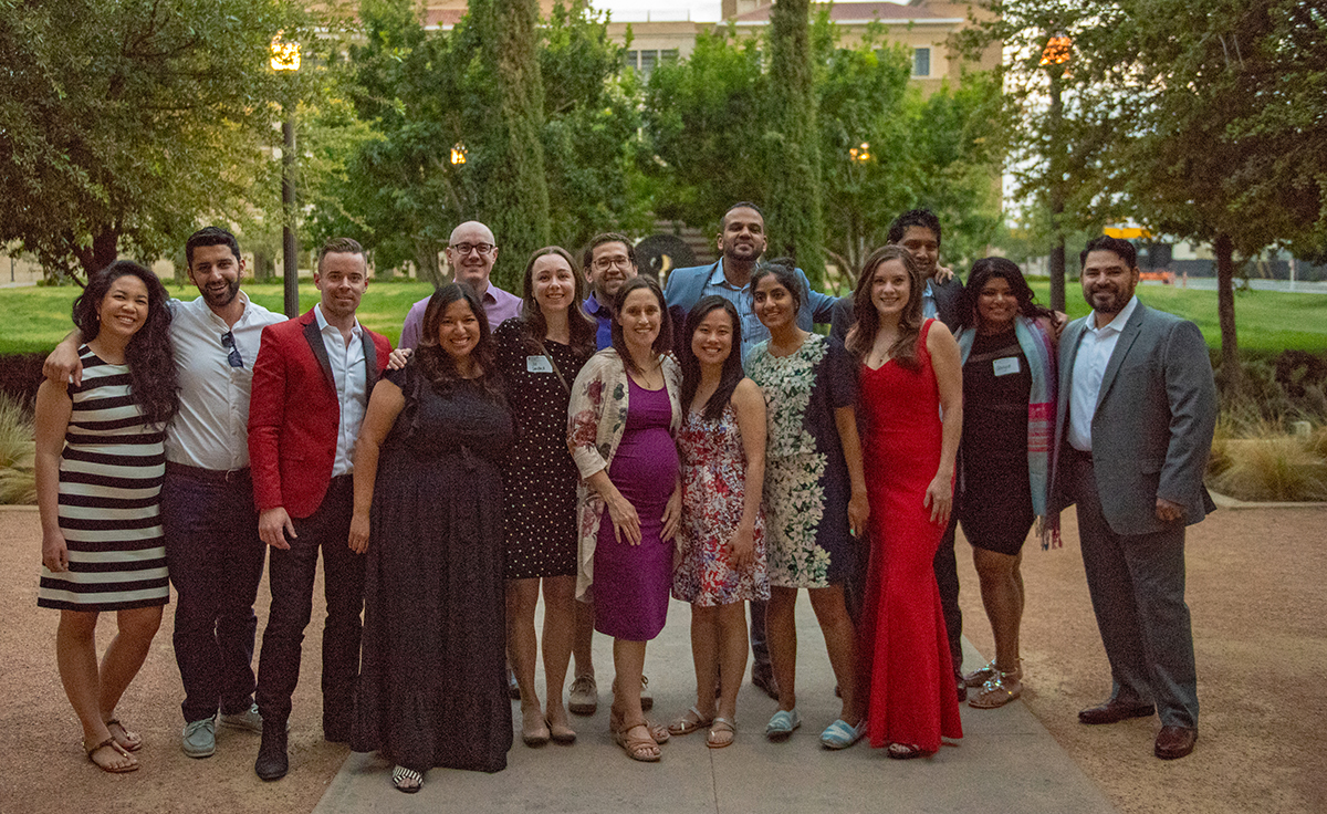 To commemorate their first five years as doctors, the Paul L. Foster School of Medicine's inaugural class reunited in El Paso Friday, June 8. Initiated by Grace Ng, M.D., and Jillian Sanford, M.D., the alumni organized the reunion to thank the community that made their medical education possible.