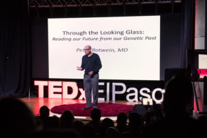 Peter Rotwein, M.D., vice president for research at Texas Tech University Health Sciences Center El Paso was a guest speaker at TEDx El Paso, Oct. 13 at the El Paso Museum of Art.