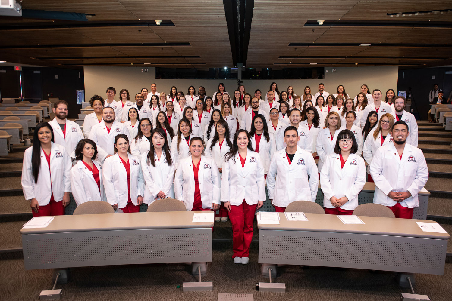 The GGHSON Class of 2020 received their first white coats during a ceremony Friday, Jan. 18, at the Misenhimer Auditorium.