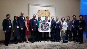 TTUHSC El Paso's medical school partners from Vietnam celebrated the accreditation of their simulation centers at the IMSH conference on Jan. 28