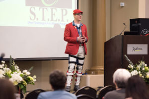 Joshua Holm, a combat veteran and founder of the charitable organization Steel Hope, was the conference's keynote speaker.