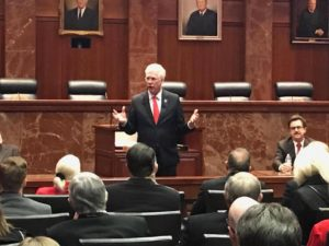 Richard Lange, M.D., M.B.A., president of Texas Tech University Health Sciences Center El Paso, spoke to 200 Texas Tech alumni at the Supreme Court building and joined the other Texas Tech leaders in being recognized on the Senate floor for TTU System Day