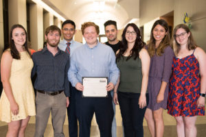Foster School of Medicine students were recognized for completing at least 100 hours of community service. 2019 graduates Jake Wilson and Allison Mootz were honored for completing more than 500 hours of community service.