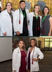 Graduates participating in the concurrent enrollment program were presented with a Hunt School of Nursing pin and an honor cord.