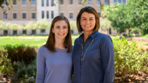 Maddie Goldfarb, left, is a member of the Foster School of Medicine's Class of 2023. Her mother Cyd is the Hunt School of Medicine's new senior director of admissions and recruitment.