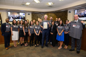TTUHSC El Paso President and Dean of the Foster School of Medicine Richard Lange, M.D., M.B.A., accepted the proclamation on behalf of the university.