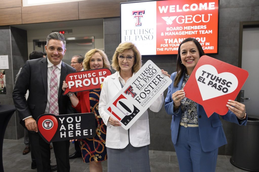 "In May, TTUHSC El Paso and GECU announced their collaboration to improve health care for the region with a theme of ""Teamed Up for Health."""