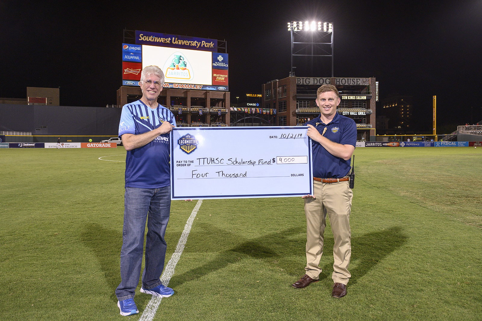 El Paso Locomotive FC Supports the Foster School of Medicine's 10-Year Anniversary