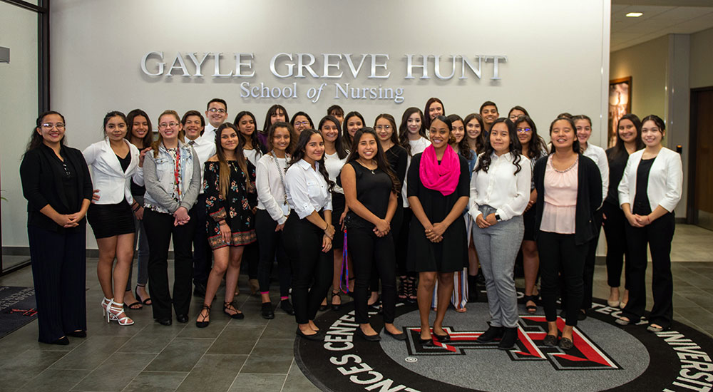 Students from Bel Air High School attended the announcement of the new early-admission nursing program.