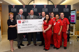 Wells Fargo announced a grant of $25,000 to help students attending TTUHSC El Paso's Gayle Greve Hunt School of Nursing achieve their dream of graduating with a nursing degree. The money will provide a safety net for students facing financial challenges and unforeseen circumstances.