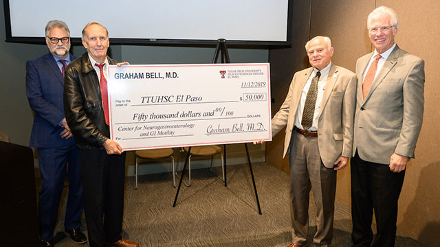 TTUHSC El Paso Announces $50,000 Gift to Center for Neurogastroenterology and Gastrointestinal Motility