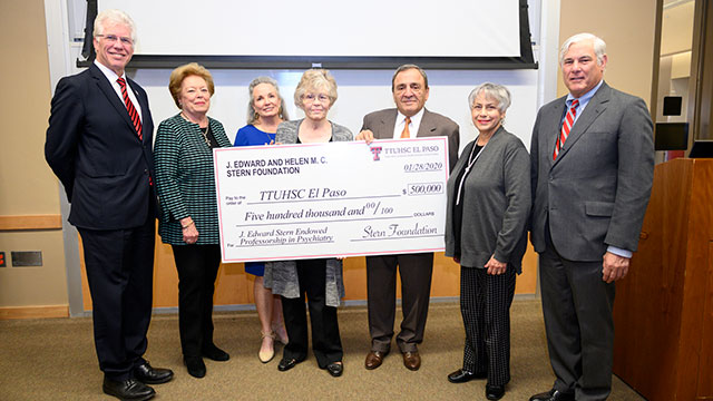 TTUHSC El Paso Receives $500,000 for Endowed Professorship in Psychiatry