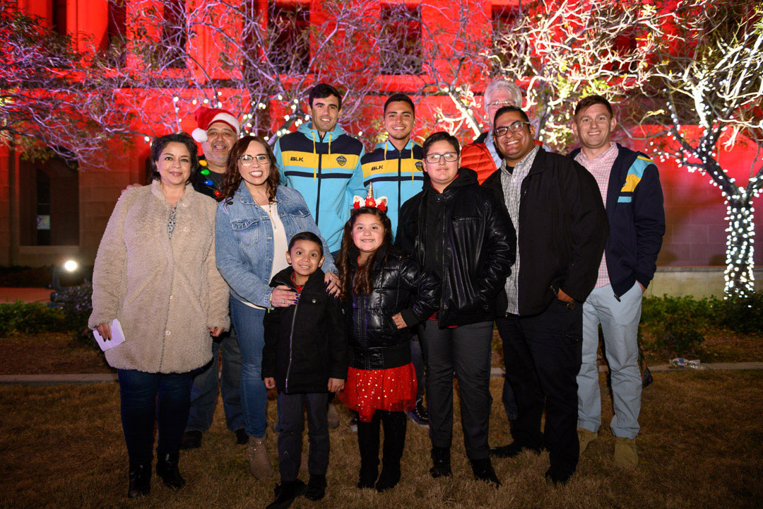Six-year-old Stevie Lerma was the guest of honor, along with his family, at TTUHSC El Paso's Cookies, Cocoa and Holiday Cheer event.