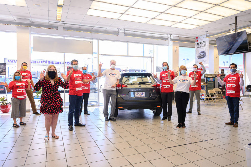 TTUHSC El Paso and Casa Nissan celebrated the announcement of the gift of a one-year vehicle lease to a student at the Hunt School of Nursing.