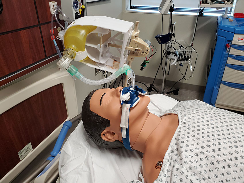 The main cost-and-time saving innovation of the Texas Breather involves the incorporation of relatively inexpensive bag-valve mask devices that are available in large quantities at hospitals.