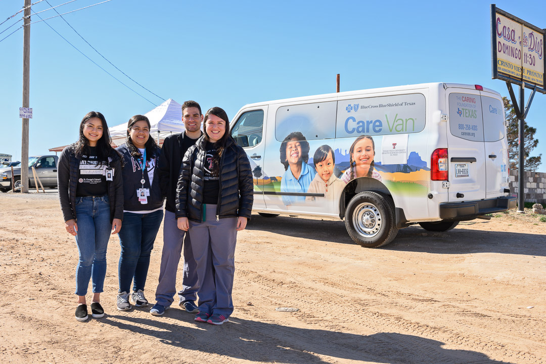 The Care Van is a mobile health unit used by the clinic and other TTUHSC El Paso departments to provide health screening and education in rural areas of El Paso and West Texas.