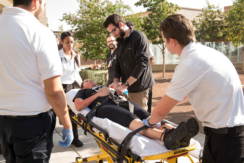 The Department of Emergency Medicine conducts large-scale disaster drills as part of its three-year training program for emergency medicine residents.
