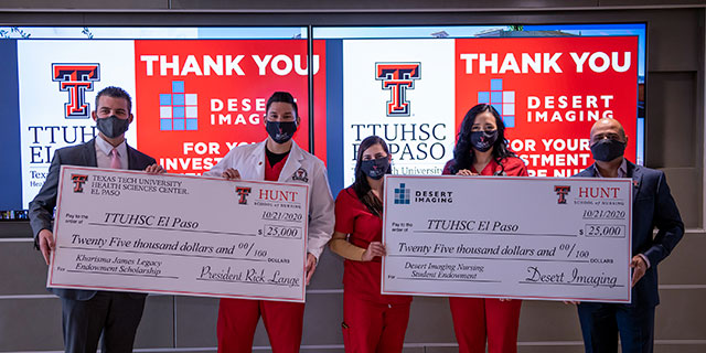 Desert Imaging and TTUHSC El Paso Establish Two Scholarship Endowments for Hunt School of Nursing Students in Honor of Kharisma James