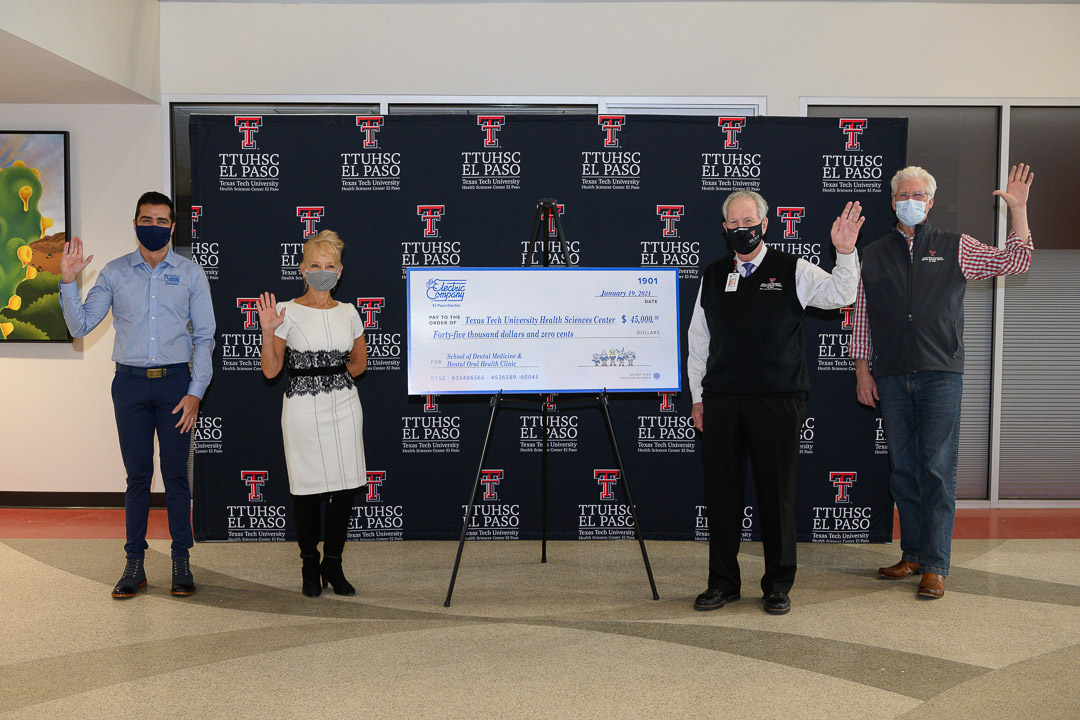 TTUHSC El Paso Receives $45,000 Gift from El Paso Electric for Dental School, Clinic and University Initiatives