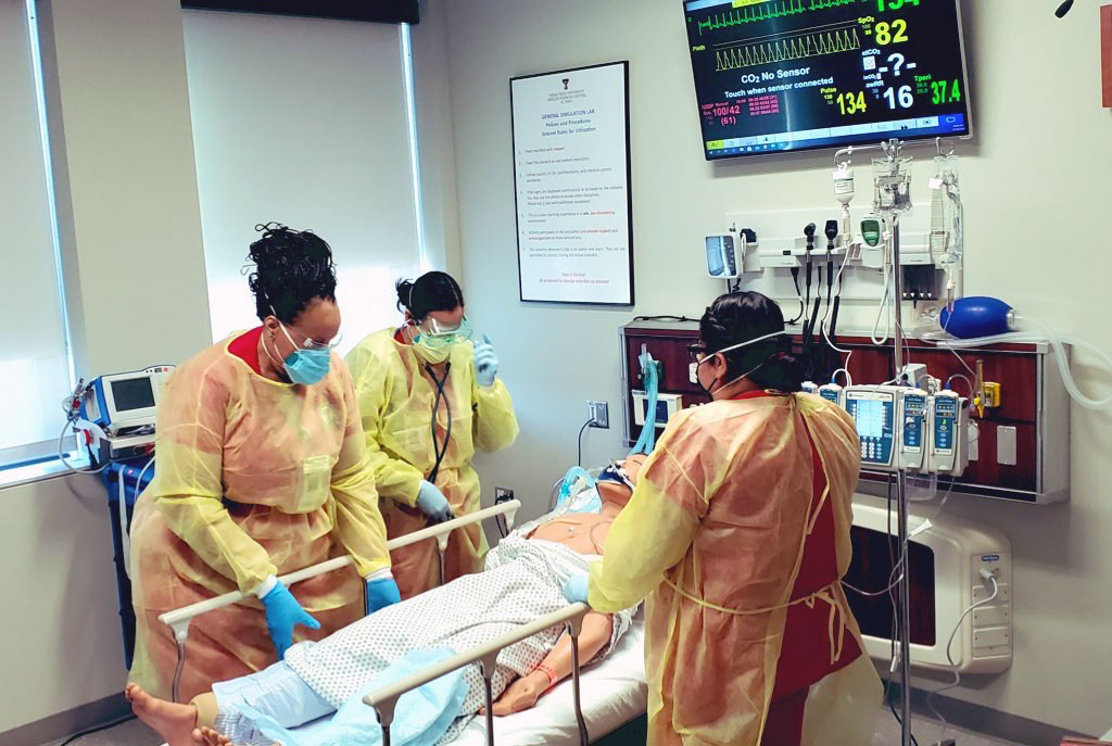 COVID-19 Patients and Symptoms Reenacted in TTUHSC El Paso Simulation Lab