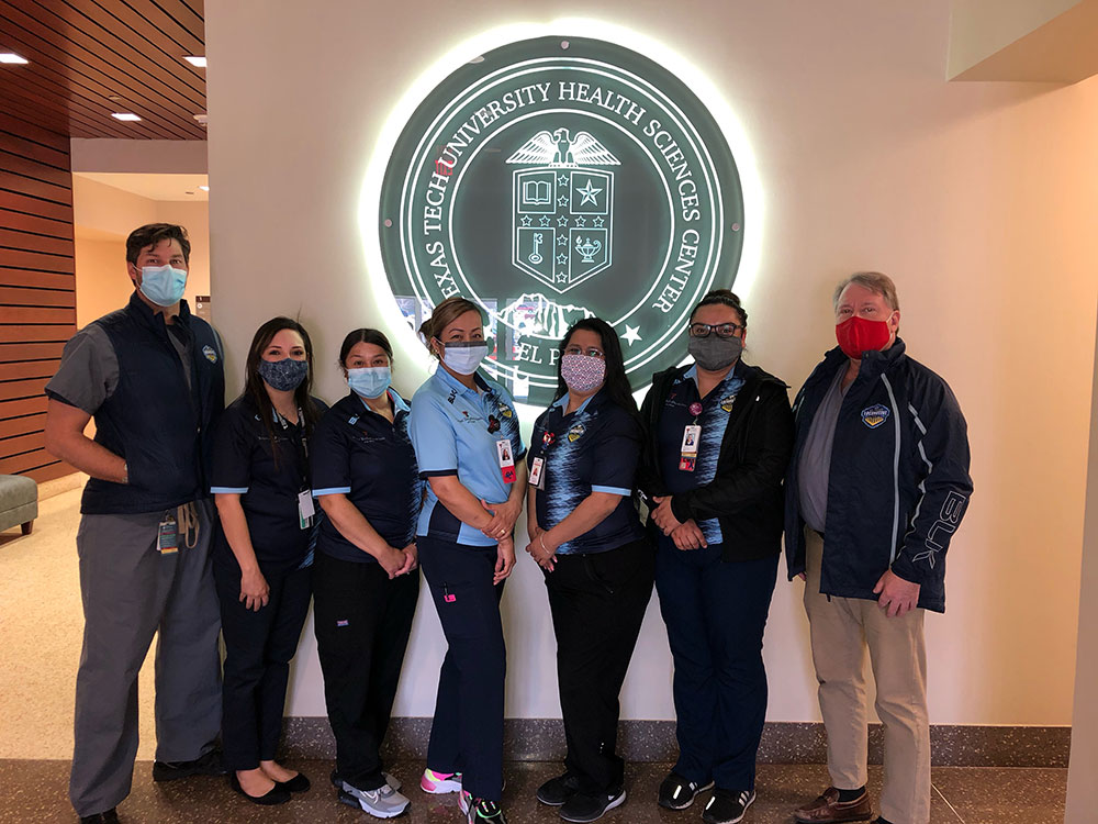 El Paso Locomotive FC Donates Team Merchandise to Health Care Partner Texas Tech Physicians of El Paso